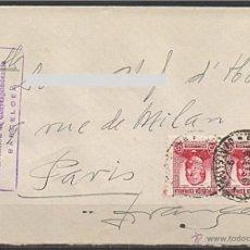 Sellos: 1936 - CARTA CON CENSURA COMITÉ DE MILICIAS ANTIFACISTAS - A PARIS. Lote 43094037