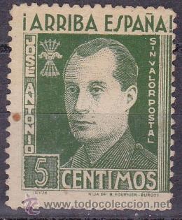 JOSE ANTONIO PRIMO DE RIVERA (Sellos - España - Guerra Civil - De 1.936 a 1.939 - Nuevos)