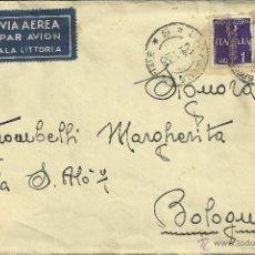 Sellos: GUERRA CIVIL CC TROPAS ITALIANAS MAT UFFICIO POSTALE SPEZIALE ETIQUETA ALA LITTORIA. Lote 43420838
