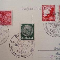 Sellos: FRANQUEO MIXTO, MATASELLOS REGRESO LEGIÓN CÓNDOR BERLIN Y HAMBURGO, FERNANDO EL CATÓLICO, TENERIFE. Lote 43456300