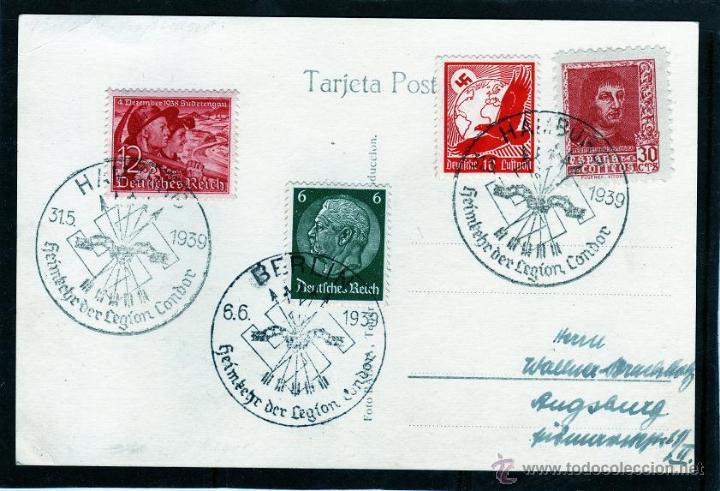 Sellos: FRANQUEO MIXTO, MATASELLOS REGRESO LEGIÓN CÓNDOR BERLIN Y HAMBURGO, FERNANDO EL CATÓLICO, TENERIFE - Foto 2 - 43456300