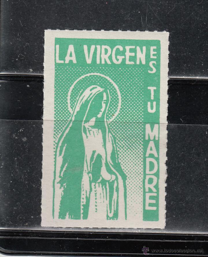 LA VIRGEN ES TU MADRE (Sellos - España - Guerra Civil - Beneficencia)