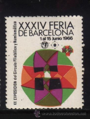 S-5756- XXXIV FERIA DE BARCELONA. XX EXPOSICION DEL CIRCULO FILATELICO.1966 (Sellos - España - Guerra Civil - Viñetas - Nuevos)
