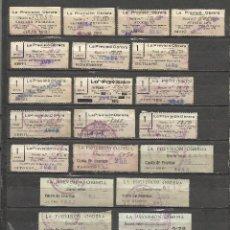 Sellos: 780A-COLECCION SELLOS LA PREVISION OBRERA SIN CATALOGAR DE 1933 A 1954 COMPLETO+VARIOS HABILITADOS S. Lote 43628654