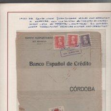 Sellos: GUERRA CIVIL - FRENTES Y HOSPITALES - CARTA CIRCULADA DE SAN SEBASTIAN A CORDOBA CONSELLO DE FRENTES. Lote 43653013