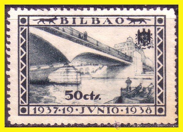 VIZCAYA BILBAO GUERRA CIVIL, FESOFI Nº 14 (*) (Sellos - España - Guerra Civil - Locales - Nuevos)