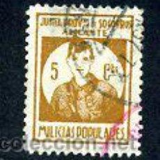 Sellos: VIÑETA - JUNTA PROVINCIAL SOCORROS / ALICANTE / MILICIAS POPULARES - GUERRA CIVIL / MILITARIA. Lote 44126447