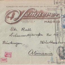 Sellos: SOBRE A ALEMANIA. FRANCO PERFIL RODILLO. CENSURA ESPAÑOLA Y NAZI. 1941. Lote 44300882