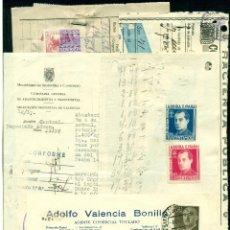 Sellos: *** LOTE DE 11 DOCUMENTOS VARIADOS DE FALANGE 1939 A 1943 CON SELLOS FISCALES ***. Lote 44349338