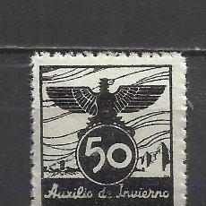 Sellos: 1290-SELLO VIÑETA 1939 ESPAÑA GUERRA CIVIL AUXILIO DE INVIERNO BENEFICO BENEFICENCIA MNH** LUJO.50 C. Lote 44367430