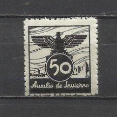 Sellos: 193A-SELLO VIÑETA 1939 ESPAÑA GUERRA CIVIL AUXILIO DE INVIERNO BENEFICO BENEFICENCIA MNH** LUJO.50 C. Lote 44367436