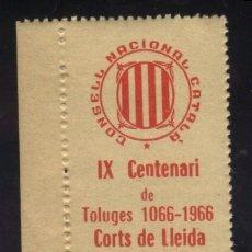 Sellos: S-5770- IX CENTENARI DE TOLUGES 1966. CORTS DE LERIDA. Lote 44642916