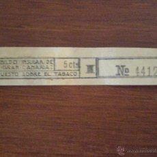 Sellos: GRAN CANARIA CABILDO INSULAR. SELLO PRECINTO FISCAL LOCAL IMPUESTO TABACO 5 CTS. GUERRA CIVIL. Lote 44713826