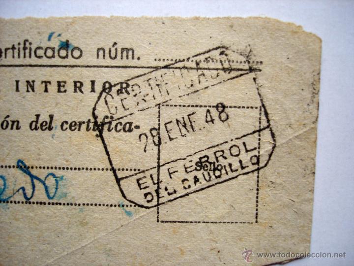 Sellos: Sello Mutualidad de Correos aportación voluntaria. 10 cts. certificado en El Ferrol del Caudillo. - Foto 3 - 44817434