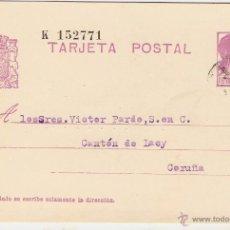 Sellos: ANTIGUA TARJETA POSTAL II REPÚBLICA , 1934--POR DETRÁS ESCRITA. Lote 44856621