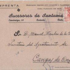 Sellos: SOBRE OVIEDO (ASTURIAS). EDIFIL 955. CENSURA MILITAR. A CANGAS DE ONÍS.. Lote 44932592