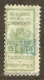 TENERIFE. IMPUESTO TABACO Y PERFUMES. SUBSIDIO COMBATIENTES 1936 (Sellos - España - Guerra Civil - Viñetas - Usados)