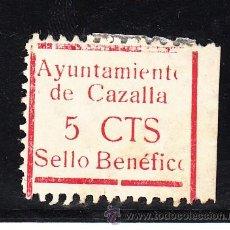 Sellos: ,,LOCAL NACIONALISTA CAZALLA DE LA SIERRA (SEVILLA) 211 CON CHARNELA, VDAD -O- DE AYUNTAMIENTO Y -O+. Lote 45522601