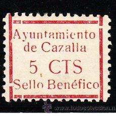 Sellos: ,,LOCAL NACIONALISTA CAZALLA (SEVILLA) 211 CON CHARNELA,. Lote 45522619