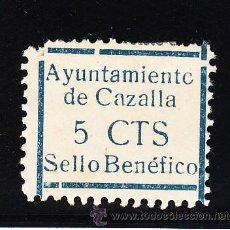 Sellos: ,,LOCAL NACIONALISTA CAZALLA (SEVILLA) 209 CON CHARNELA, VDAD -O- DE AYUNTAMIENTO PARE+. Lote 45522693