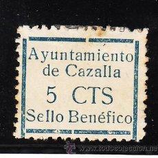 Sellos: ,,LOCAL NACIONALISTA CAZALLA (SEVILLA) 209 CON CHARNELA,. Lote 45522703