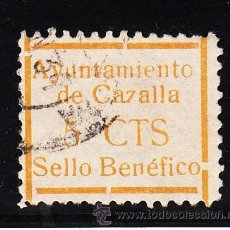 Sellos: ,,LOCAL NACIONALISTA CAZALLA (SEVILLA) 208 USADA,. Lote 45522732