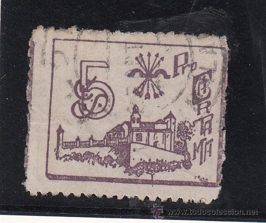 ,,LOCAL NACIONALISTA CARTAMA (MALAGA) B161 USADA, (Sellos - España - Guerra Civil - Locales - Usados)