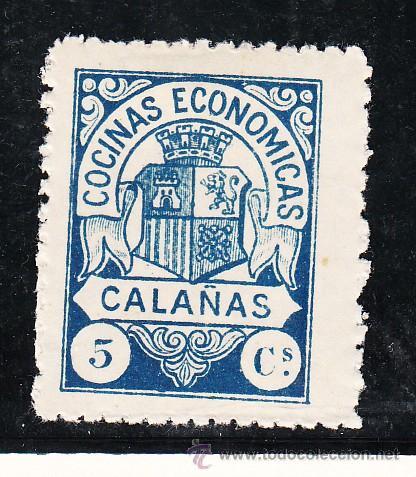 ,,LOCAL NACIONALISTA CALAÑAS (HUELVA) 182 CON CHARNELA, (Sellos - España - Guerra Civil - Locales - Usados)