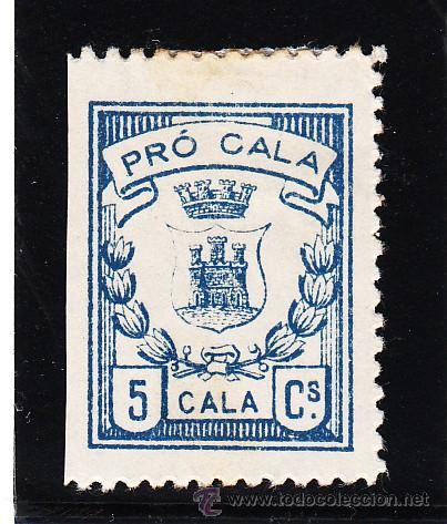 ,,LOCAL NACIONALISTA CALA (HUELVA) 181 CON CHARNELA, (Sellos - España - Guerra Civil - Locales - Usados)