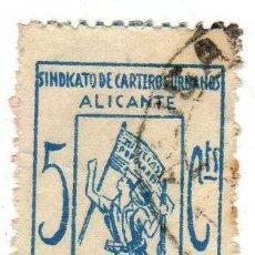 Sellos: SELLO PRO-MILICIAS POPULARES ANTIFACISTAS. ALICANTE. Lote 45911140