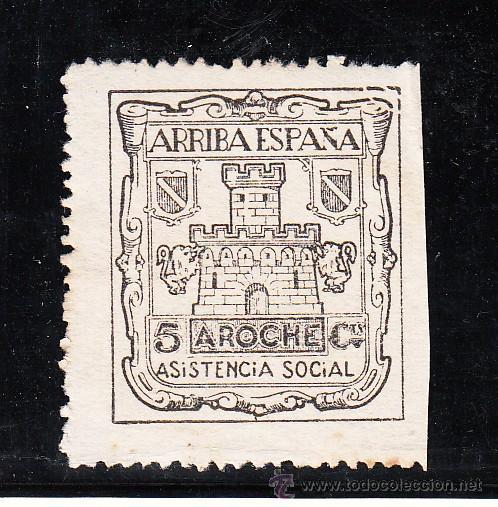 ,,LOCAL NACIONALISTA AROCHE (HUELVA) 72 USADA, (Sellos - España - Guerra Civil - Locales - Usados)