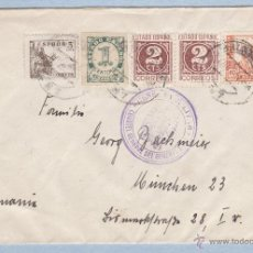 Sellos: CARTA CENSURADA DE SALAMANCA A ALEMANIA 1938, CENSURA MILITAR CUARTEL GENERAL DEL GENERALISIMO. Lote 45955870