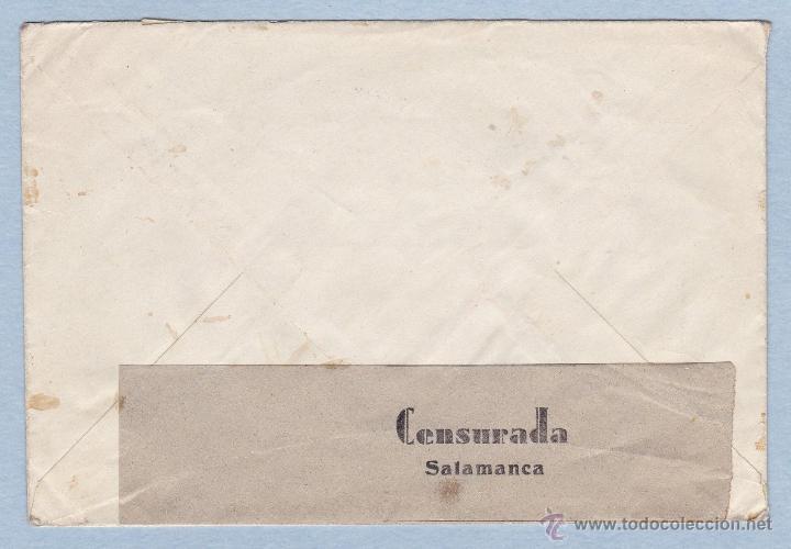 Sellos: CARTA CENSURADA DE SALAMANCA A ALEMANIA 1938, CENSURA MILITAR CUARTEL GENERAL DEL GENERALISIMO - Foto 2 - 45955870