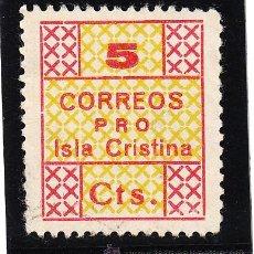 Sellos: ,,LOCAL NACIONALISTA ISLA CRISTINA (HUELVA) 383 USADA, . Lote 45997528