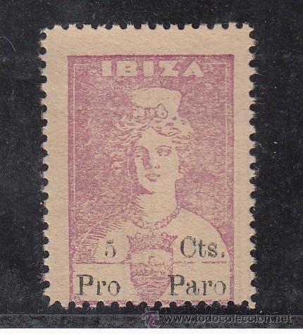 ,,LOCAL NACIONALISTA IBIZA (BALEARES) 373 SIN GOMA, (Sellos - España - Guerra Civil - Locales - Usados)