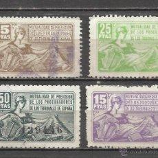 Sellos: 9144-SELLOS FISCALES MUTUALIDAD PROCURADORES DE LOS TRIBUNALES DE ESPAÑA.CON HABILITADOS. Lote 19563237