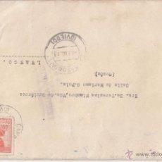Sellos: SOBRE A CANGAS DE ONÍS. ASTURIAS. EDIFIL 955. CENSURA MILITAR DE OVIEDO. 1943.. Lote 46204427