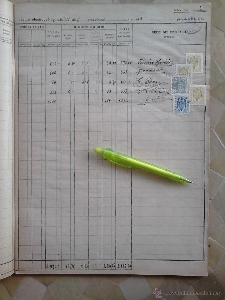 GRAN LIBRO LLENO DE + 120 SELLOS FISCALES VARIOS TIPOS Y VALORES,AÑO 1943,DESTACANDO LOS FISCALES DE (Sellos - España - Guerra Civil - Beneficencia)