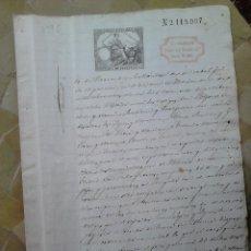 Sellos: B49E-SELLOS FISCALES PAPEL SELLADO Y RESELLO HABILITADO IMPUESTO GUERRA 1882.SELLOS FISCALES SOBRE D. Lote 46328665