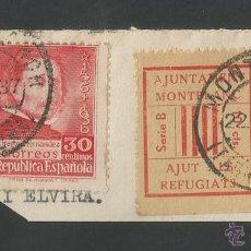 Sellos: VIÑETA CIRCULADA - MONTBLANC - (V-1547). Lote 46422219
