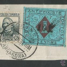 Sellos: VIÑETA CIRCULADA - TORTOSA - (V-1553). Lote 46422371