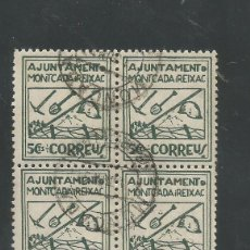Sellos: VIÑETA CIRCULADA - MONTCADA I REIXAC - (V-1564). Lote 46422545