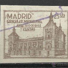 Sellos: 1541-SELLO ANTIGUO FISCAL MADRID CONSEJO MUNICIPAL ARBITRIOS IMPUESTOS DE VENTAS. Lote 28024857