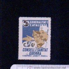 Sellos: GENERALITAT DE CATALUNYA.CONSELL DE SANITAT DE GUERRA.5 CTS.USADO.. Lote 46684356