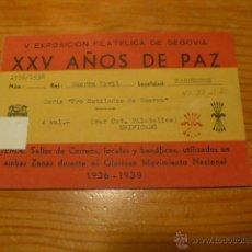 Sellos: RARO, SELLOS NUEVOS DE GUERRA CIVIL D MARRUECOS, PRO-MUTILADOS DE GUERRA CIVIL. EXPOSICION SEGOVIA. Lote 47135697