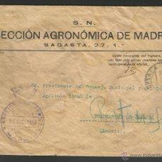 Sellos: CARTA SECCION AGRONOMICA DE MADRID 1938. Lote 47193433
