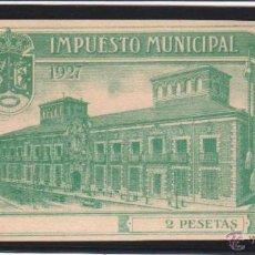 Sellos: MADRID. 2 PTAS VERDE IMPUESTO MUNICIPAL.. Lote 47247394
