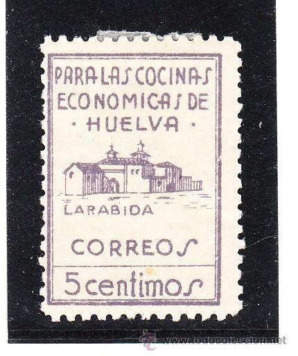 ,,LOCAL NACIONALISTA HUELVA 328 CON CHARNELA, (Sellos - España - Guerra Civil - Locales - Usados)