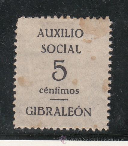 ,,LOCAL NACIONALISTA GIBRALEON (HUELVA) 306 CON CHARNELA, (Sellos - España - Guerra Civil - Locales - Usados)