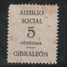 Sellos: ,,LOCAL NACIONALISTA GIBRALEON (HUELVA) 306 CON CHARNELA, . Lote 47496839